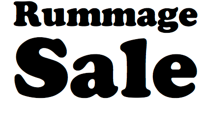 rummage sale logo for website